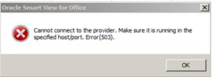 APS Timeout 503 error